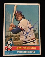 JIM FREGOSI 1976 TOPPS Autograph Signed AUTO Baseball Card 635 RANGERS