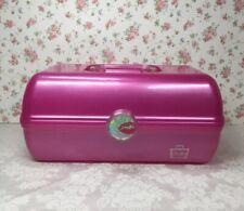 Caboodles Pink Makeup Case Organizer Mirrored Lift Up Storage Compartment