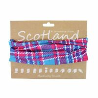 Pink and Blue Tartan Multiway Snood A Souvenir from Scotland Unisex