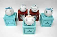 Set of 5 Lladro Hand Painted Porcelain Christmas Ball Ornaments w Original Boxes