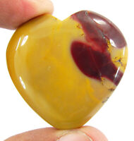99.10 Ct Natural Mookaite Jasper Loose Gemstone Heart Cabochon Wire Wrap - 43030