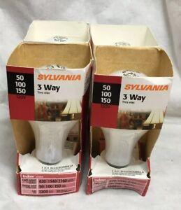 Sylvania Three Way 50/100/150 Incandesent Light Bulb 120V A21 USA # 18060 4-pcs