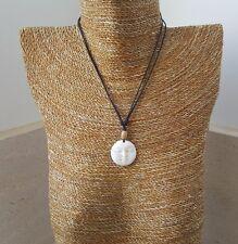 Necklace/pendant/chocker, handmade, smiley soul moon face, buffalo, real, bone