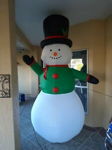 9' FT Snowman Airblown Inflatable Christmas LED Lighted Yard Decor by Gemmy