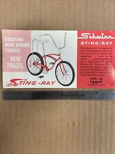 Ultra Rare 1963 Schwinn Stingray Sales Flyer