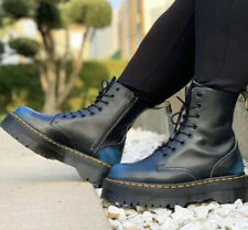 Dr Martens Jadon Vintage Blue Leather Platform Double Sole Boots - BNIB - UK4