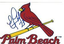 edgar lara Signed autographed 4x6 photo Cardinals Minor league Santo Domingo