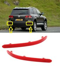 NEW VOLKSWAGEN TOUAREG 2002-2010 REAR BUMPER RED REFLECTOR LIGHT PAIR RIGHT+LEFT