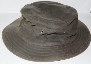 Filson Vintage Oiled Tin cloth hat size L