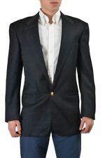 """Gianni Versace """" Schneider Hergestellt Herren Schwarz 100% Wolle Sport Jacke US"""