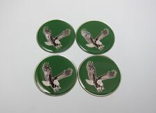 Lowrider hydraulics eagle logo chips for wire wheel rim knock offs green, 4 pack
