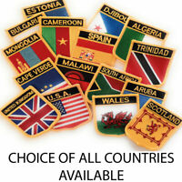 Embroidered Flag Sew on Patch Choice of 190+ Countries FREE UK Delivery