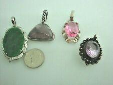 sterling silver pendants 4 total
