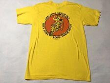 Vtg Ken Dodd L 1979 Old Cops Never Die Graphic Comedy Shirt Yellow Orange Police