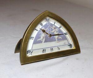 rare antique French Charles Hour CH Depose bronze cherub enamel travel clock