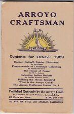 1909 ARROYO CRAFTSMAN GEORGE WHARTON JAMES CALIFORNIA ARTS AND CRAFTS MOVEMENT