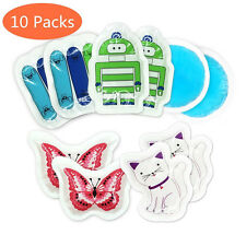 Ice gel cold Pack with Cloth Backing & Mini Animal Gel kids injury cartoon 10pcs