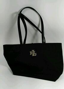Lauren Ralph Lauren LRL Black Tote Bag Shopper