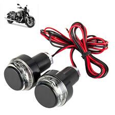 2PCS Motorcycle Turn Signal LED Light Indicator Blinker Handle Bar End Handlebar