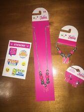 Justice Initial M Necklace, Bracelet & Earring Jewerly Set Zebra Easter Bir