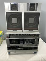 Vintage Emerson AM/FM Stereo Cassette Recorder With Front Load Turntable MC-1700