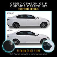 Fit 13-20 Lexus GS Series Window Trim Chrome Delete Blackout Kit - Glossy Black