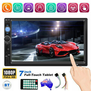 """7"""" Double Din Car Stereo Radio For Apple CarPlay Android MP5 Player Head Unit"""