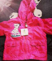 New Disney Baby Girl Age 12-18Months  101Dalmatians Rain Mac Jacket Summer Coat