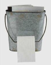 Galvanized Metal Toilet Paper/Magazine Holder Rack*Industrial Primitive Decor