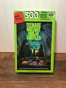 Teenage Mutant Ninja Turtles Vintage 300 Piece Jigsaw Movie Poster Puzzle TMNT