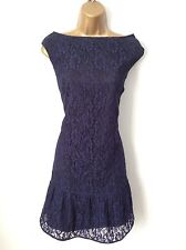COAST midnight blue lace dress size 10 12 vgc