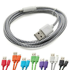 3/6/10FT Braided Fabric Micro USB 2.0 Charging Sync Data Cable For Mobile Phones