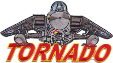 Royal Air Force RAF Panavia Tornado Shaped Word Embroidered Patch