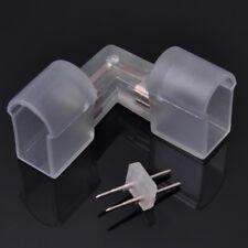 DELight® 5x Splice L Connector for Neon Rope Light 2-Wire w/Pin Accessories PVC