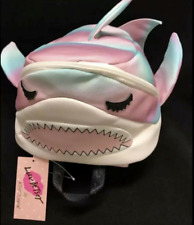 NWT Betsey Johnson Kitsch LB Sharkie Blue Pink Jaws Shark Backpack