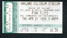 1994 Pink Floyd concert ticket stub The Division Bell Oakland CA