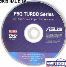 ASUS GENUINE VINTAGE ORIGINAL DISK FOR P5Q TURBO Motherboard Drivers Disk M1475