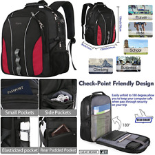 Business Laptop Backpack LARGE Capacity Travel Computer School Bagpack W USB Por