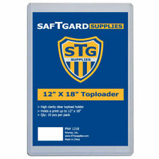 10 Saf-T-Gard 12 X 18 RIGID TOP LOADER POSTER HOLDER - #1218