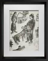 "Marc CHAGALL Lithograph Limited Edition 14/150 ""The Shephard"" + Archival Frame"
