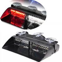 Car 16 LED Red/White Police Strobe Flash Light Dash Emergency Flashing Light MA