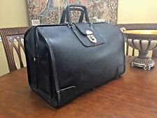Heavy Duty Full Grain Leather Doctor Bag / Briefcase - 1950s American Made