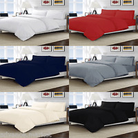 NEW EGYPTIAN COTTON 200 THREAD COUNT DUVET COVER BEDDING SET SINGLE DOUBLE KING