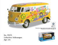 1:24 Escala VW Volkswagen Flower Power Hippie Furgoneta T1 Type 2 1962 Modelo