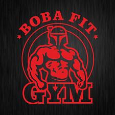 Boba Fit Fett Star Wars Bodybuilding Gym Rot Auto Vinyl Decal Sticker Aufkleber
