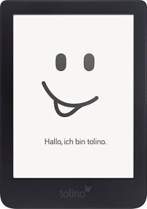 Tolino Shine 3 eBook Reader 6 Zoll 8GB Touchscreen WLAN HD Beleuchtung schwarz