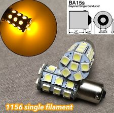 Rear Signal 1156 BA15S 1141 7506 P21W 3497 27 SMD samsung LED Amber W1 AW E