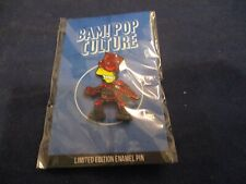 "Bam! ""The Devil of Springfield"" Bart Simpsons The Simpson Pin Button Pinback New"