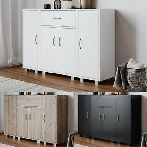 Wooden Free Standing Side Corner Cabinet Cupboard Hallway Living Room Storage