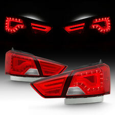 14-18 Chevy Impala <RED CLEAR> LED Light Tube Tail Brake Lamp 4P Left+Right Pair